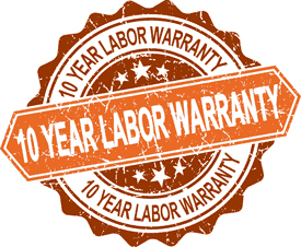 10 Year Labor Warranty