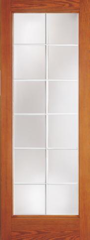 Fiberglass French Doors with Wooden Finish