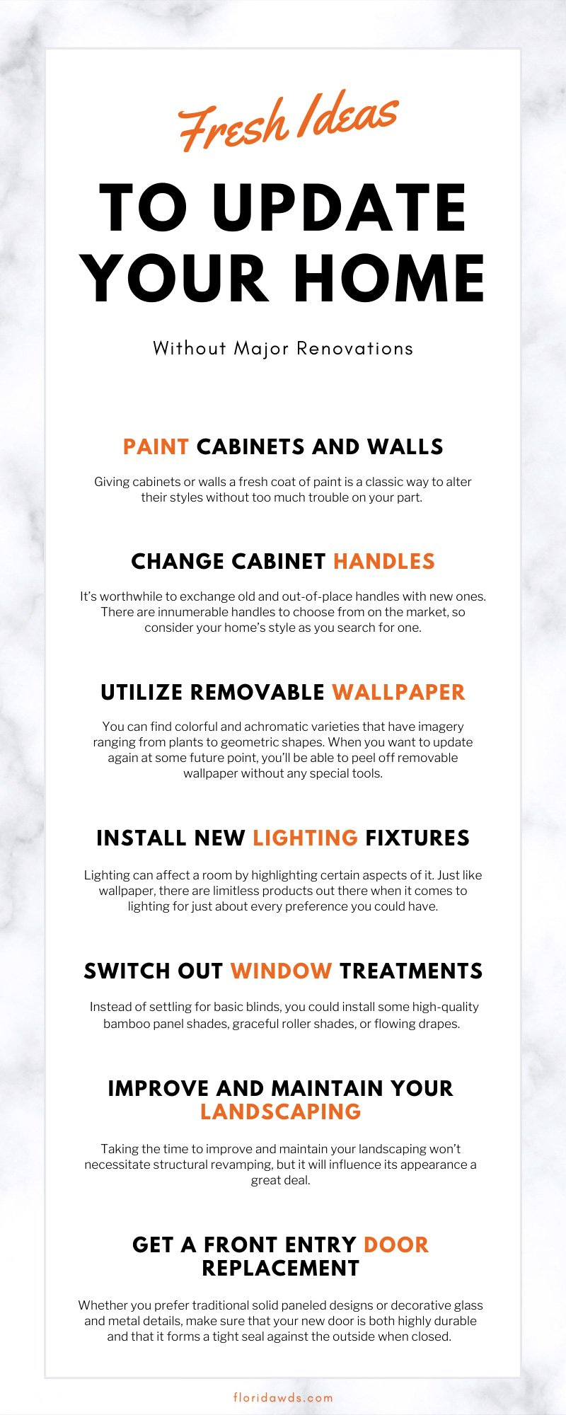 Fresh Ideas To Update Your Home Without Major Renovations