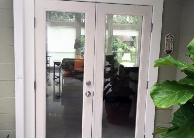 Newly-installed french patio doors