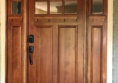 Entry Door with Sidelights AFTER Replacement