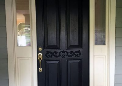 Entry Door with Sidelights BEFORE