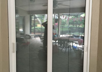After Installation of New Sliding Doors