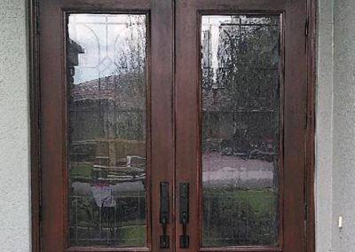 """Exterior View of Double Entry Doors """