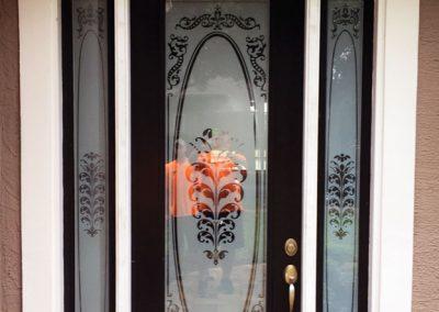 Entry Door Before Replacement