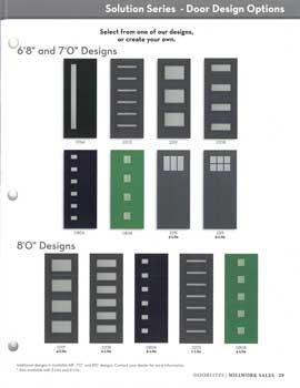 Solution Series Door Options Catalog
